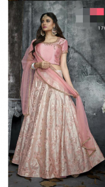 Light Pink Embroidery Lehenga